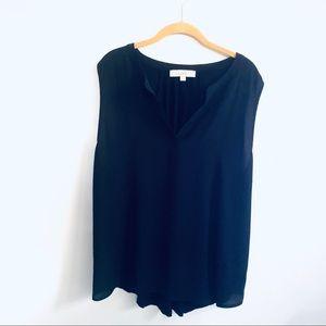 LOFT Black Sleeveless Plus Size Blouse Top XXL